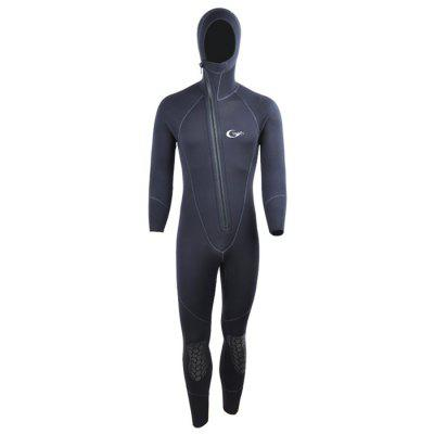 Yonsub YW8001 Durable Warm Hooded Front Zipper Diving Suit