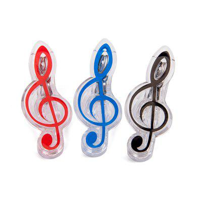 Z99 Red + Blue + Black Music Note Clip Book Page Holder 3pcs
