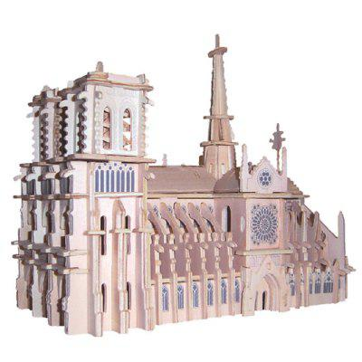 Notre Dame Cathedral 3D Model Toy