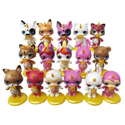 Creative Princess Figure Model Toys 16pcs