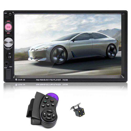 Tecney 7023B HD Touch Screen BT / FM / TF / USB Car Audio Stereo MP5 Player