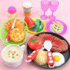 Steak Pretend Play Kitchen Toy para niños - MULTICOLOR