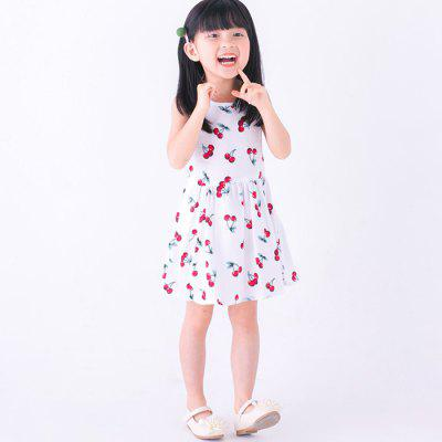 XX0001 Girls Cute Cherry Motif Dress