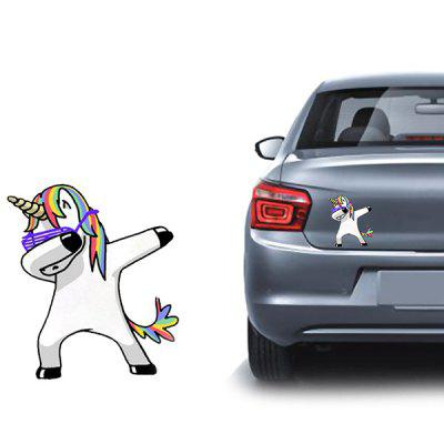 Cartoon Leuke Eenhoorn Auto Sticker
