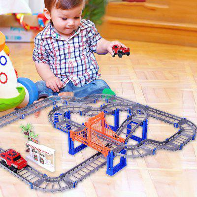 Assembled Electric High-speed Variety Track Car Educational DIY Toy