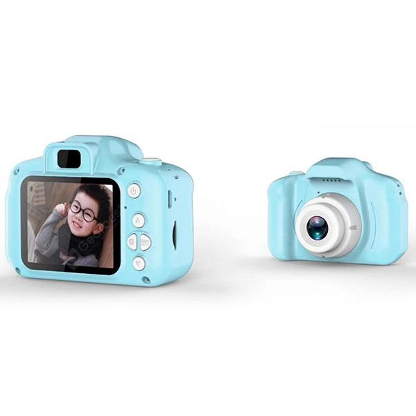 Mini Digital Cute Camera for Kids - Light Sky Blue with 16G memory card