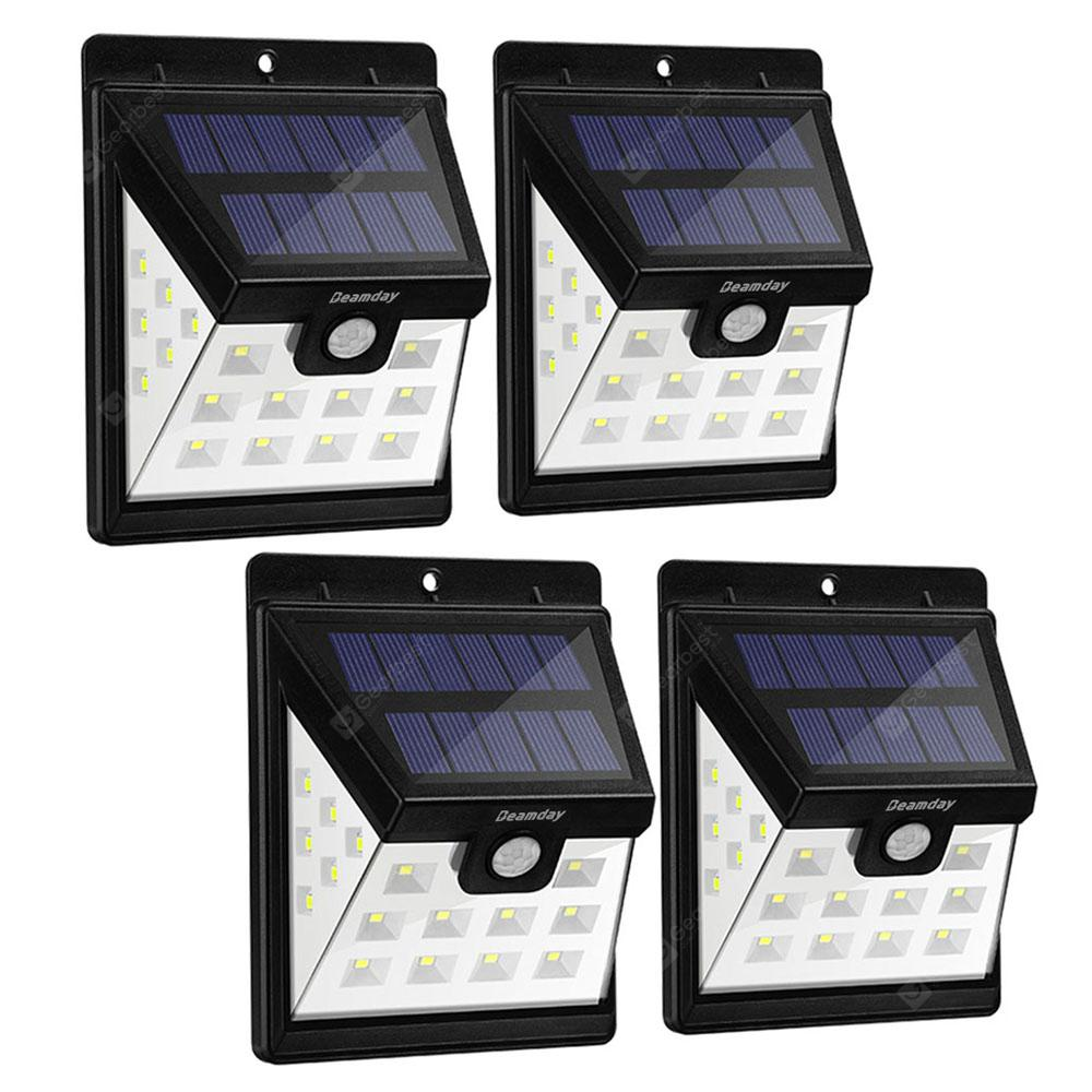 Utorch HJ001 Solar Wall Light 4pcs - Black 4PCS