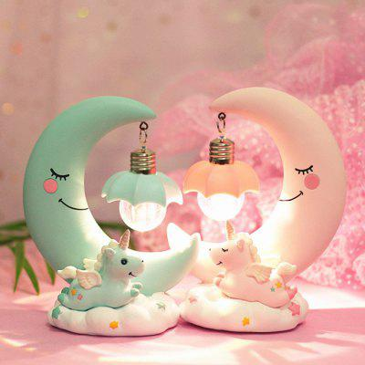 Creative Night Light Girl Home Decoration Resin Craft
