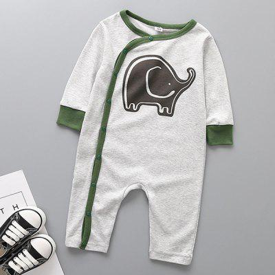 Long-sleeved Cotton Material Infant Romper