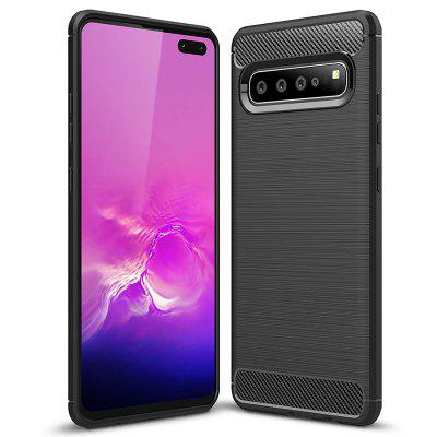 Naxtop Carbon Fiber Non-slip Phone Case Back Cover Protective for Samsung M30 / S10 5G