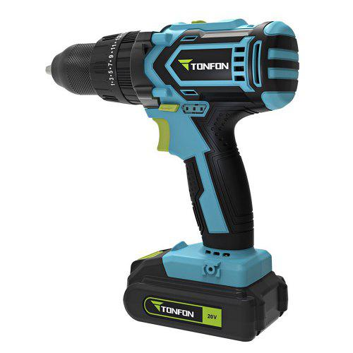 Gearbest TONFON Cordless Percussion Drill 20V from Xiaomi youpin - Blue Koi Rechargeable Li-ion Battery