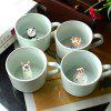 Cartoon Creative 3D Animal Cute Coffee Cup 275ml - LIGHT SLATE