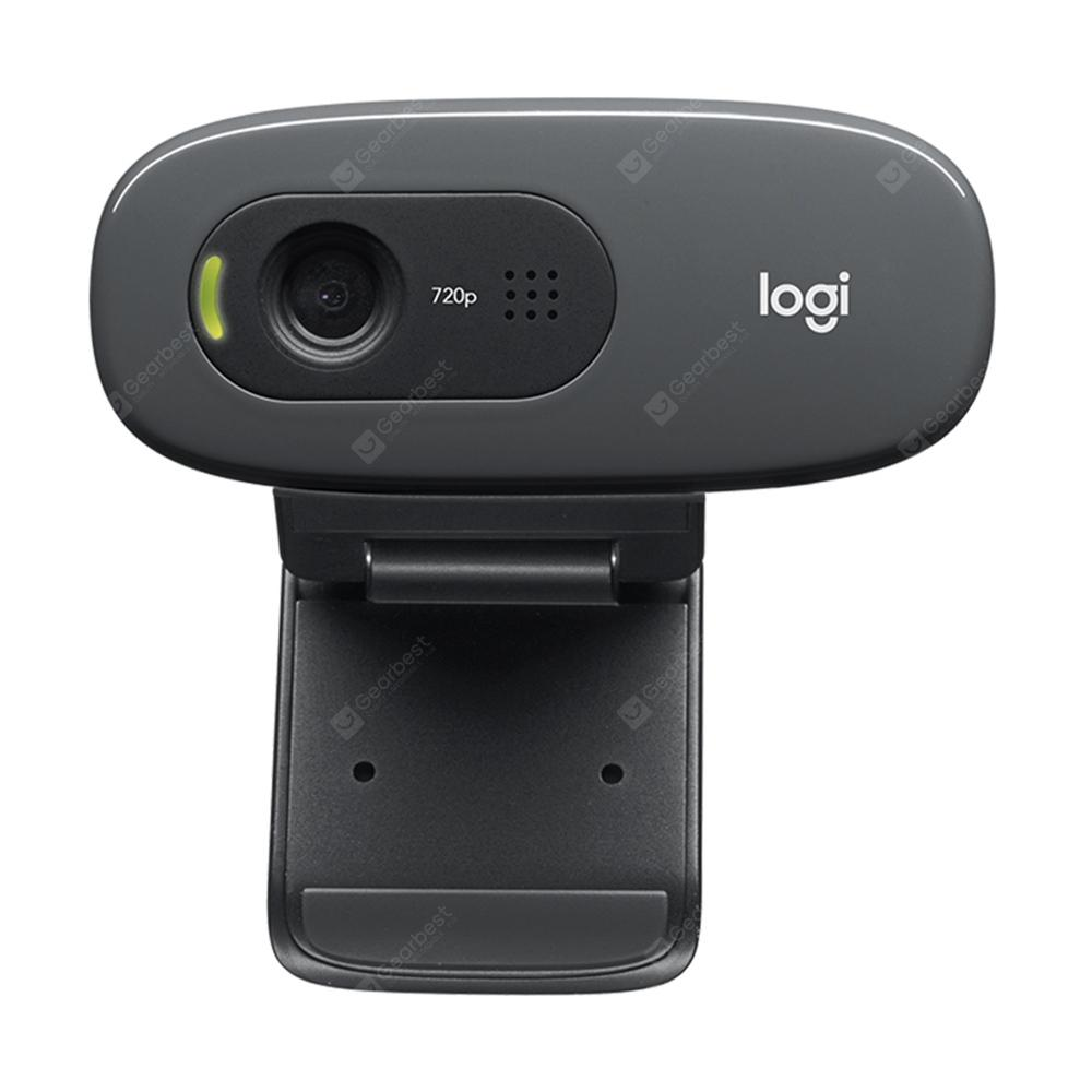 Logitech C270 USB Computer Webcam Built-in Microphone 720P