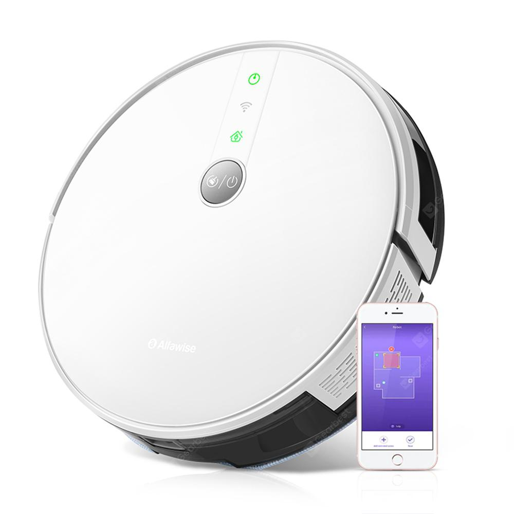Alfawise V8S PRO E30B Robot Vacuum Cleaner with Smart Mopping - White