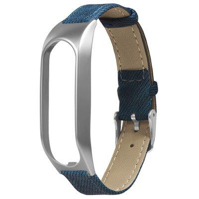 TAMISTER Denim Wristband Strap Metal Case Watch Band for Tomtom Touch