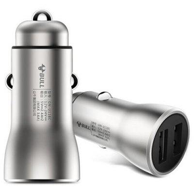 Bull GN - U118C Car Charger Dual USB for Android and iPhone