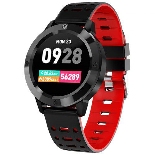 CF58 Smart Watch IP67 Waterproof Heart Rate Monitor Multiple Sport Modes - Red