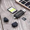 SD/Micro SD Card Reader Micro USB OTG Adapter and USB 2.0 Portable Memory Card Reader for SDXC SDHC - BLACK