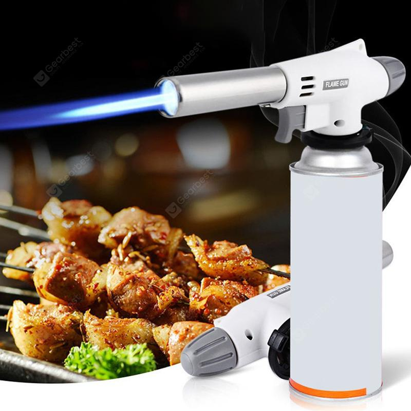 Fully Automatic Electronic Flame Gun 1350 degree Flame Adjustable Butane Burners Portable Torch Lighter Igniter Outdoor Equipment