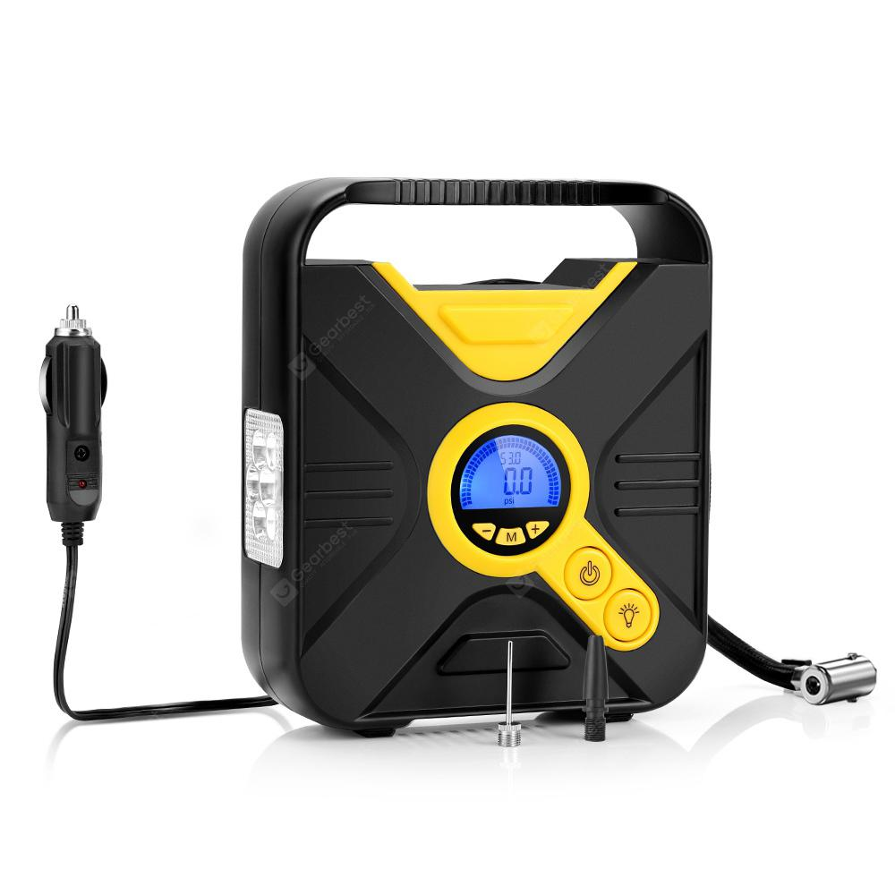 Tecney Portable Digital Car Tire Inflator Pump with LCD Screen
