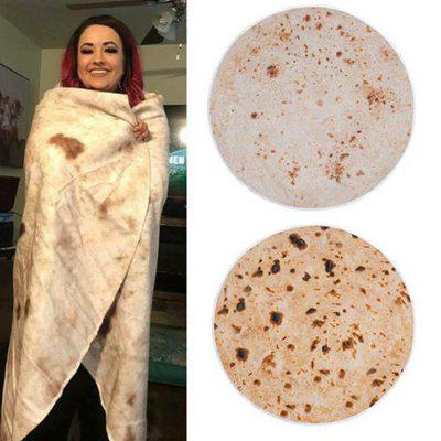 Soft Warm Tortilla Blanket Pattern Plush Blanket