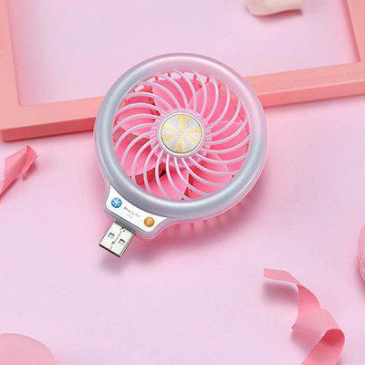BRELONG F55 Fashion USB Mini Fan with Mobile Light