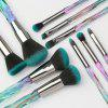 MAANGE MAG5762 Crystal Diamond Handle Makeup Brushes Set - CYAN OPAQUE