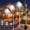 Solar Integrated Induction Waterproof Street Light - BLACK
