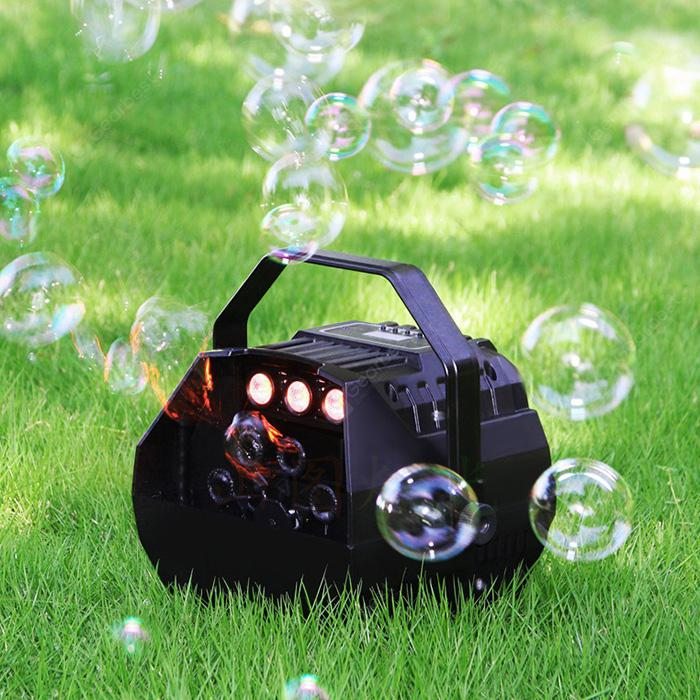 BS - 102B LED Mini Bubble Machine - Black EU Plug