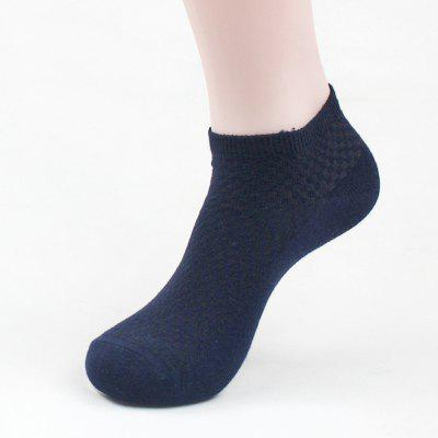 Men's Summer Bamboo Fiber Short Sock Business Socks Anti-Bacterial Deodorant Breathable Sock