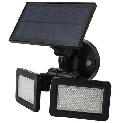 BRELONG Luz de pared LED con sensor solar blanco 500LM 4.8W