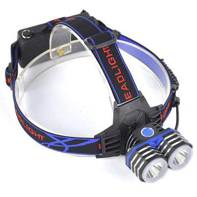 Double Head Headlight  CREE XM - L2 3000lm LED Lamp