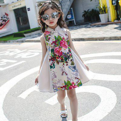 CB - 1741 Girls Stand Collar Chinese Style Dress