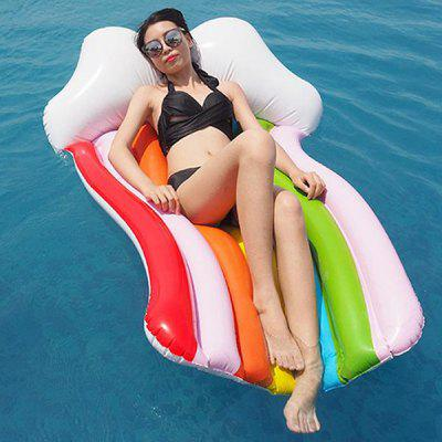 Rainbow Strip Floating Swimming Ring Water Bed