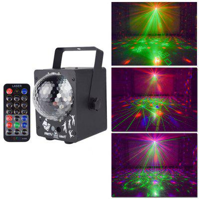 YSH 100-240V 100W Předpisy USA Multi-pattern Laser Led Magic Ball Lights Ovládání zvuku Stage Lighting Home Barevné světla