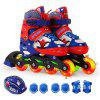 Disney DC41037 Roller Skates for 3 - 12 Years Old Kids - RED