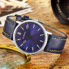 CURREN Men's Waterproof Quartz Watch Leather Belt - BLUE GRAY