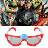 Stereo Cinema Cartoon 3D Glasses for Children 2pcs - RED