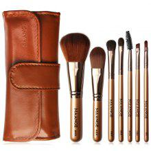 Gearbest MAANGE MAG5767 Beauty Portable Makeup Brush 7pcs