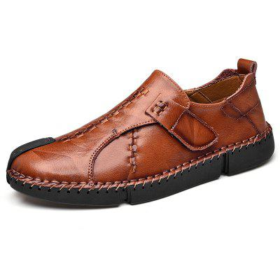 Men Leisure Solid Leather Shoes