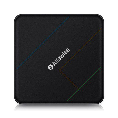Alfawise A9X S905X2 4 + 32G Smart Home Theater TV Box - Black EU Plug