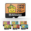 Alfawise Cartoon Face High Speed 256GB Memory Micro SD TF Card - MULTI