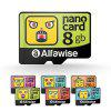 Alfawise Cartoon Face High Speed 8GB Memory Micro SD TF Card - MULTI