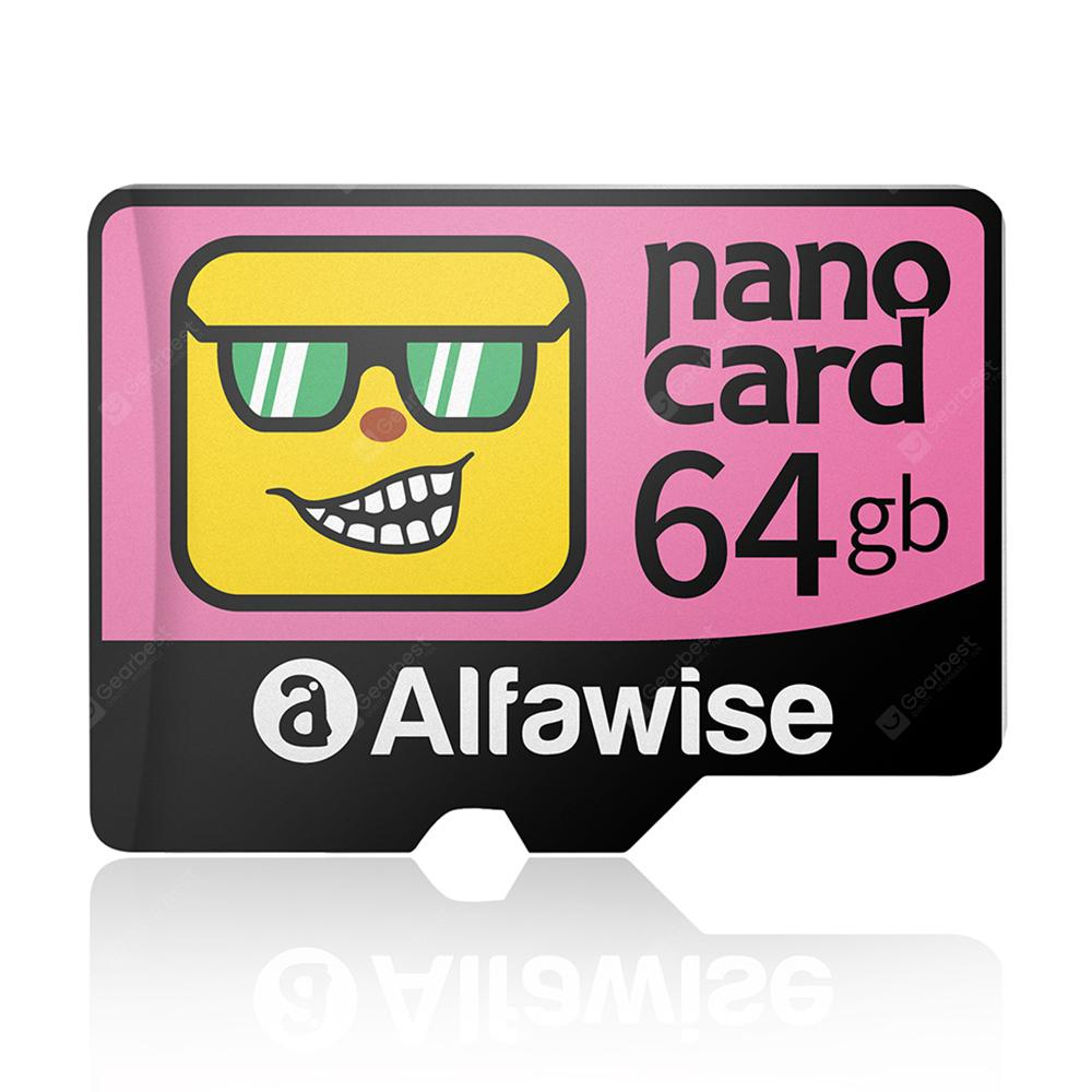 Alfawise Cartoon Face High Speed 64GB Memory Micro SD TF Card
