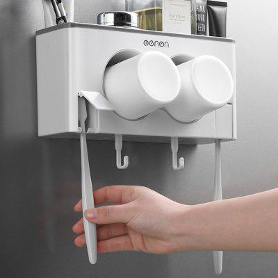 Wall-mounted Toothbrush Holder Storage Box