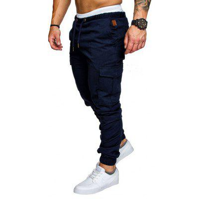 Men's Casual Cargo Pants Multi-pocket Trousers