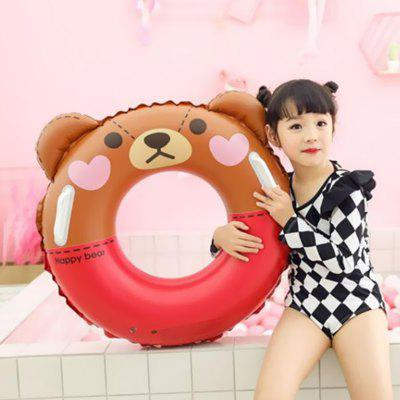 Cartoon Inflatable Children Swimming Ring with Handle