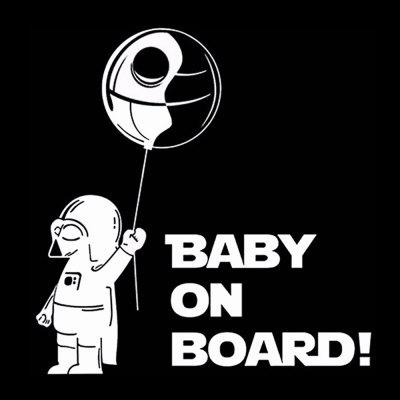 Baby On Board Reflective Car Sticker