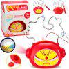 Mini Projection Piggy Bank Educational Toy - RED