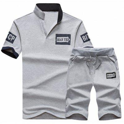 Men's Casual Shorts Short-sleeved T-shirt Suit